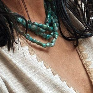 NAVAJO TURQUOISE STATEMENT LAYERED NECKLACE